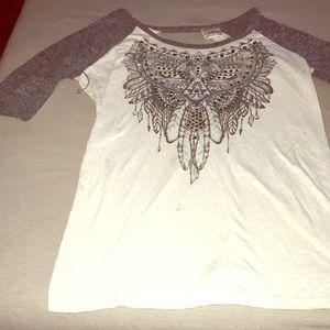 BKE open back shirt